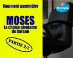 Comment assembler la chaise de bureau MOSES 2/2