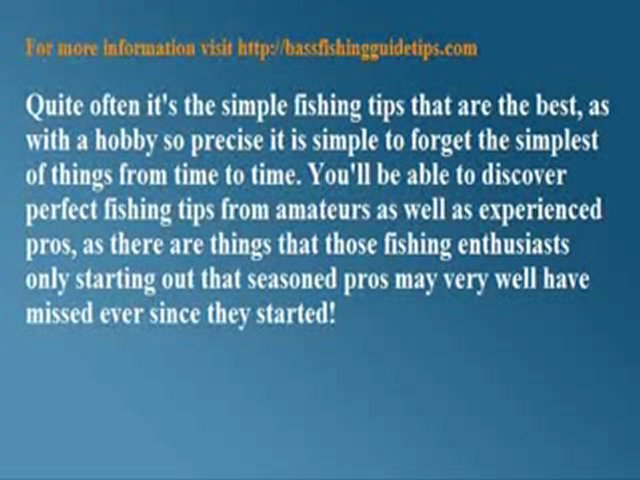 Discovering Simple Fishing Tips For An Improved Catch