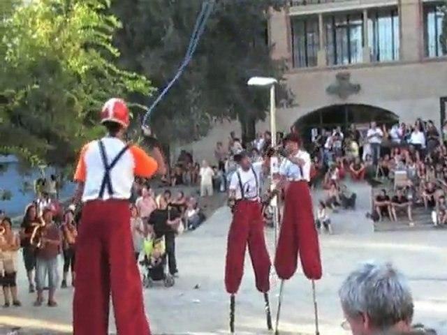 Zancos neumaticos en Festival de Tarrega 2009