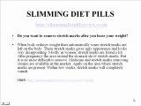 Slimming Diet Pills Review