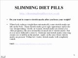 Slimming Diet Pills Review