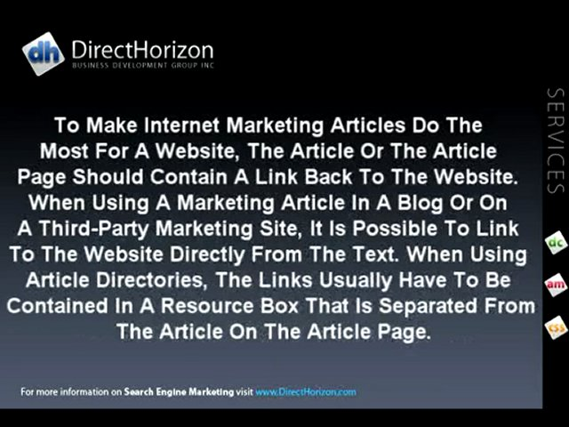 Search Engine Marketing | Internet Marketing Articles. By M
