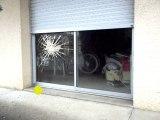 effet special trucage de vitre brisée