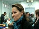 Ségolène Royale rend visite aux sinistrés d'Aytré
