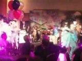 Impact dancers / vegas showgirls dancing  Barry Manilow