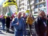 manif du 19 mars 2009, le cortège de SOLIDAIRES à Tours