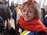 Réunification: Le MoDem est venu soutenir la Fresque Humaine