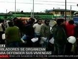 Pobladores se organizan para defender sus viviendas
