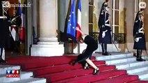 Mylène Farmer se ridiculise à l'Elysée