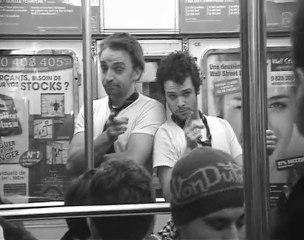strip tease dans le métro