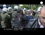 Pensioners protest against austerity cuts in Greece
