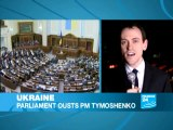 Parliament votes out PM Tymoshenko's government