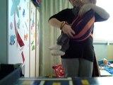 hamac - berceau dans écharpe de portage