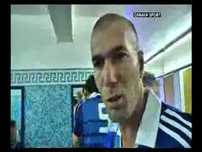 Zidane en Algerie pour le match Algerie 82 – France 98