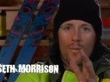 Sage Cattabriga-Alosa and Seth Morrison ski technical chute
