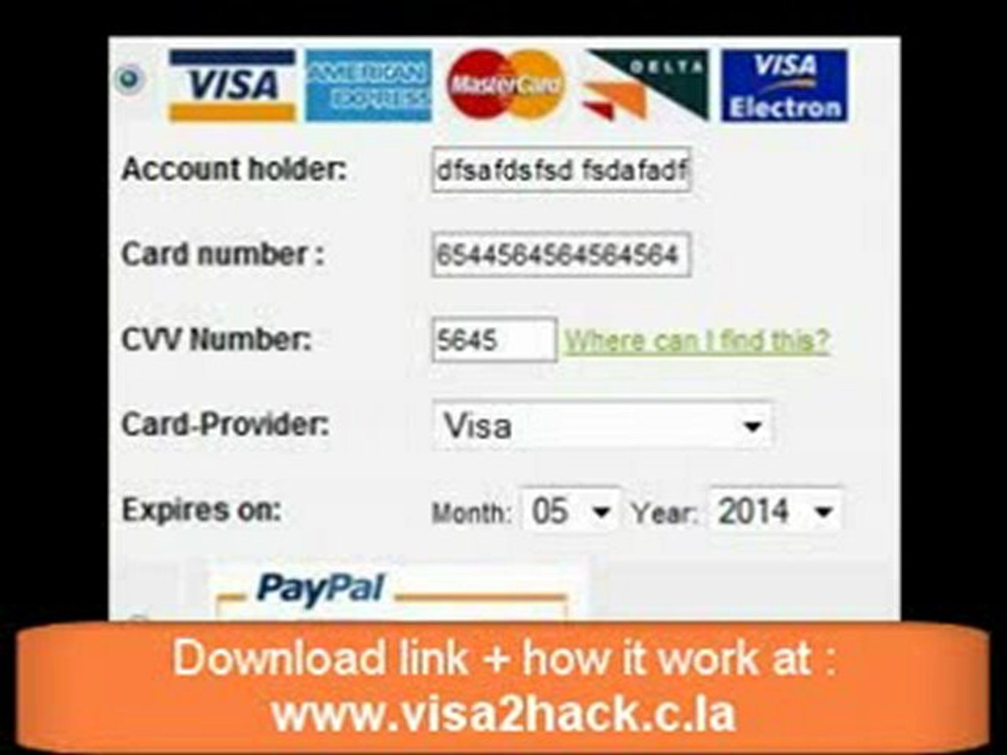 the last version 7 of credit card generator - video Dailymotion