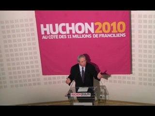 Régionales, 1er tour : Discours de Jean-Paul Huchon