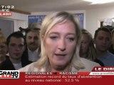 Régionales : Le FN talonne l'UMP, Marine Le Pen commente !
