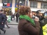 Manifestation contre les expulsions locatives à Paris