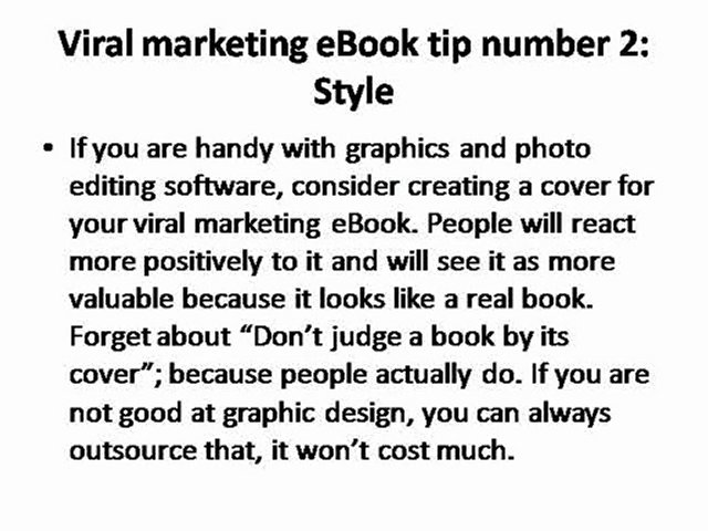 Writing your own viral marketing eBook