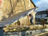 Levage d'un mur ossature bois