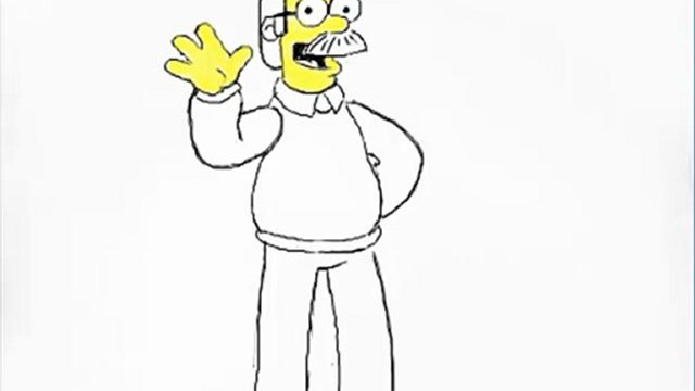 How To Draw Ned Flanders From Simpsons