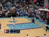 Shawn Marion intercepts the deflected pass from David West a