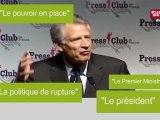 Quand Dominique de Villepin ne parle pas de Nicolas Sarkozy
