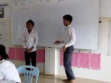 Les élèves de Sambath chantent. Battambang - Cambodge
