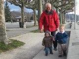 Promenade à Aix-Les-Bains avec Mamie et Papi...