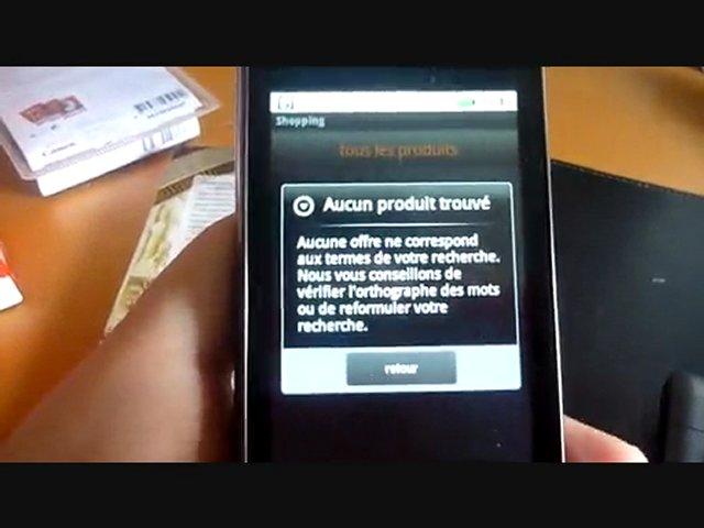 Test de comparateur de prix sous Android