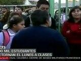 Retorno a clases este lunes de estudiantes chilenos