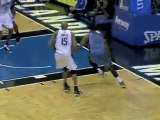 Dwight Howard stops the Memphis layup attempt with the huge