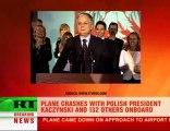 Polish President Lech Kaczynski dies in plane crash in Weste