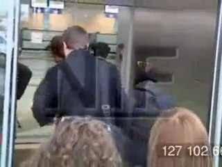 Kristen and Rob leaving Budapest