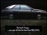 Pub australienne Renault Fuego - 1986