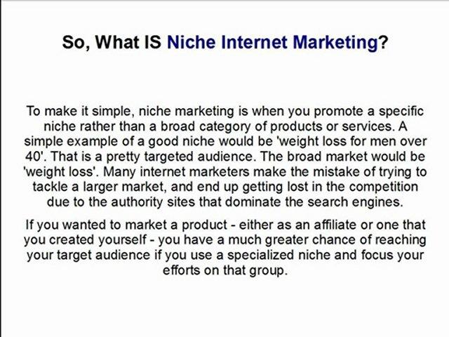 Niche Affiliate Marketing