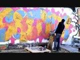 Graff Cisalpine (marseille,mur,bus,train)