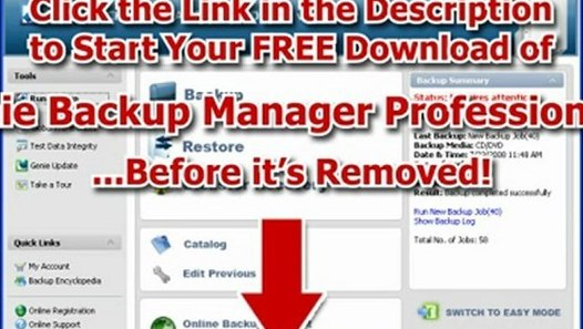 Genie Backup Manager Download!?