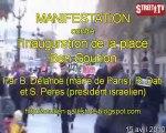 MANIF contre DELANOE, DATI PERES ISRAEL - Place Ben Gourion