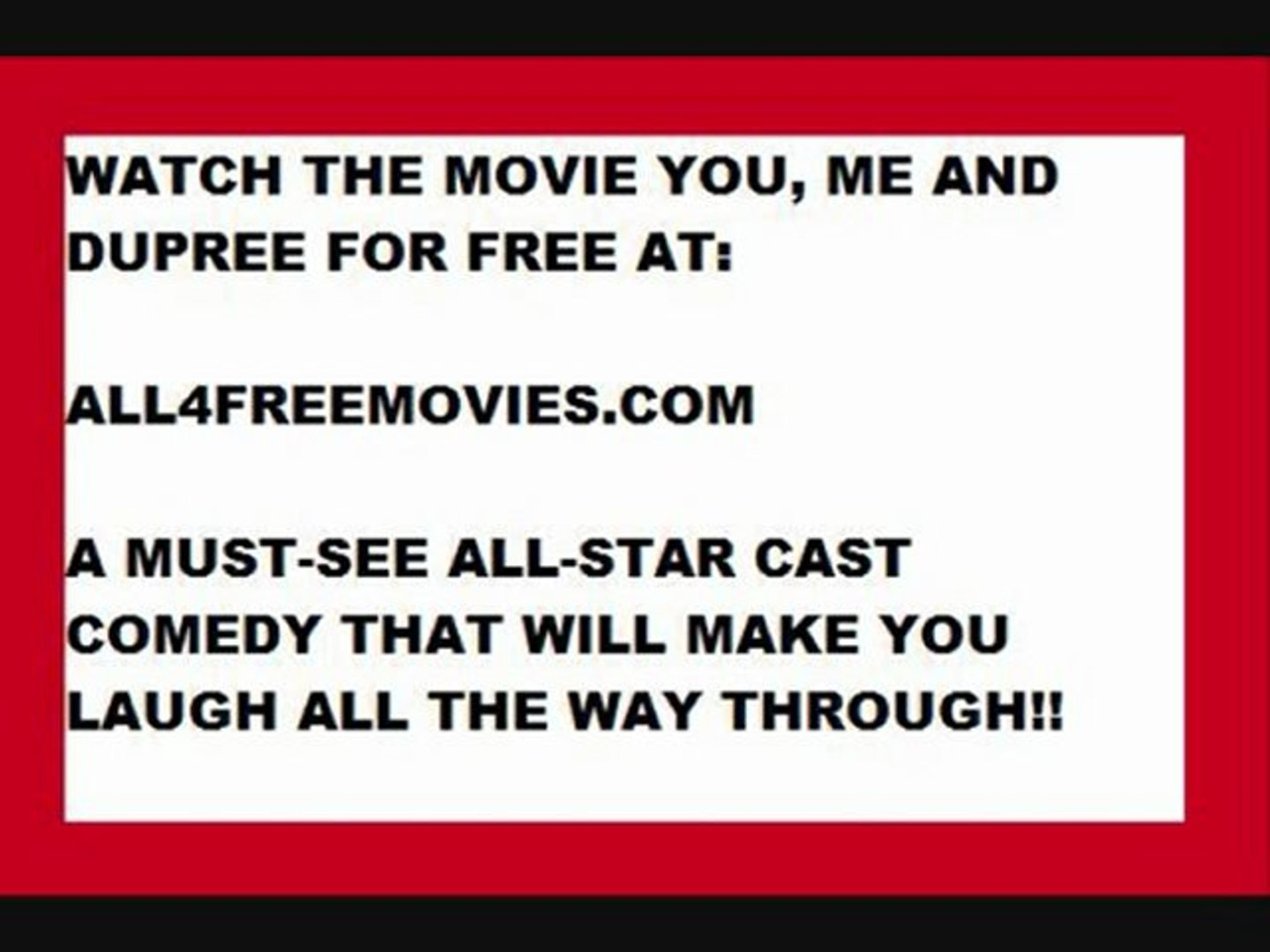 Watch You Me And Dupree For Free Video Dailymotion