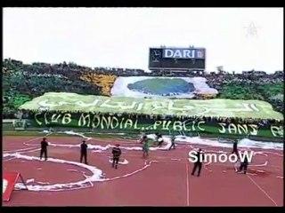 Derby Casablancais   Les tifos ( Green Boys   Winners )