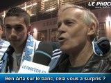 Réactions des supporters après OM-St Etienne (1-0)