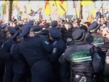 Eggs and angry protests in Ukraine's Parliament