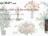 Clean Your Silk Flowers With Simply Silk