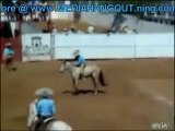 Cowboy Nailed by Bucking Bronco