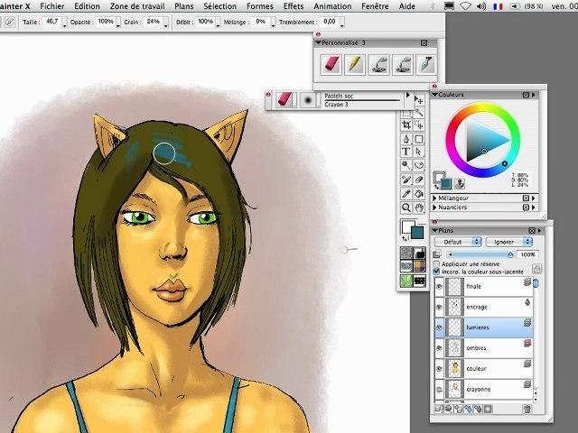 Comment faire une BD couleur sur Painter X