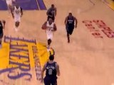 Pau Gasol gets the block and it leads to Lamar Odom getting