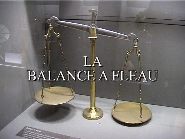 La balance à fleau