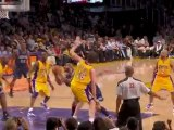 Carlos Boozer gets blocked by both Lamar Odom and Pau Gasol